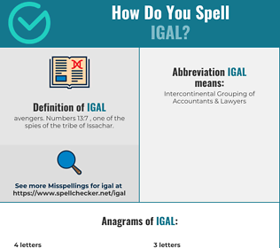 Correct spelling for Igal