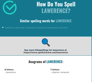 Correct spelling for Lawerence