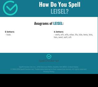 Correct spelling for Leisel
