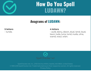 Correct spelling for LuDawn