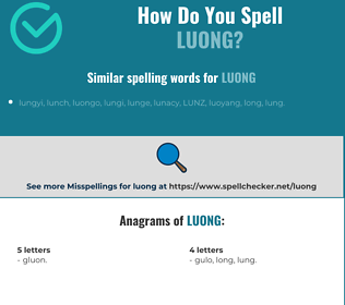Correct spelling for Luong