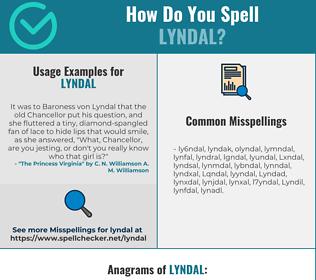 Correct spelling for Lyndal