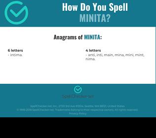 Correct spelling for Minita