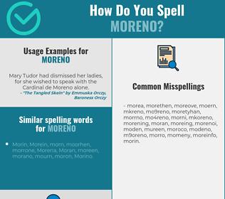 Correct spelling for Moreno