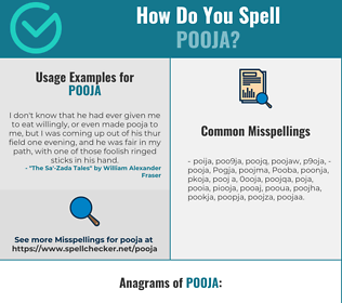 Correct spelling for Pooja
