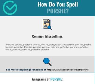 Correct spelling for Porshe