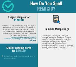 Correct spelling for Remigio