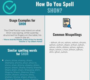 Correct spelling for Shon
