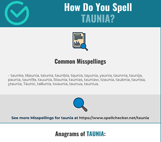 Correct spelling for Taunia