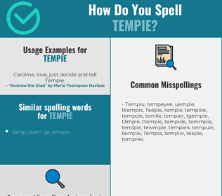 Correct spelling for Tempie