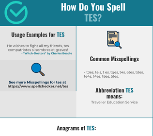 Correct spelling for Tes