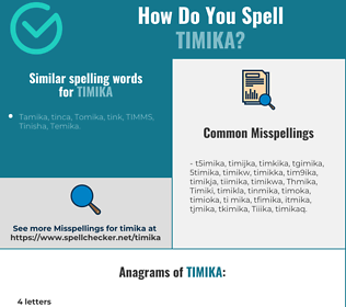 Correct spelling for Timika