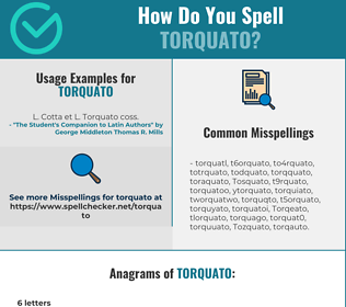 Correct spelling for Torquato