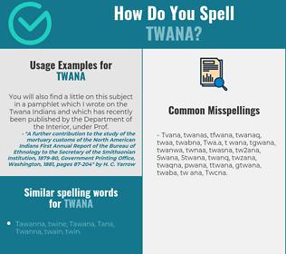 Correct spelling for Twana