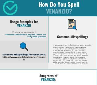 Correct spelling for Venanzio