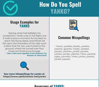 Correct spelling for Yanko