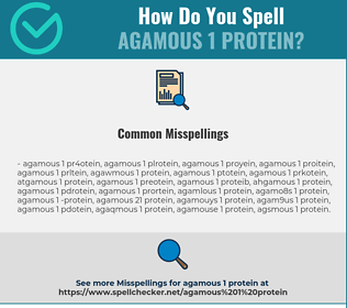 Correct spelling for AGAMOUS 1 Protein