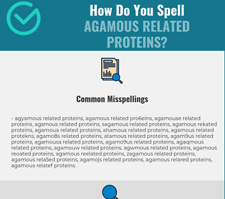 Correct spelling for Agamous Related Proteins
