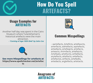 Correct spelling for Artefacts