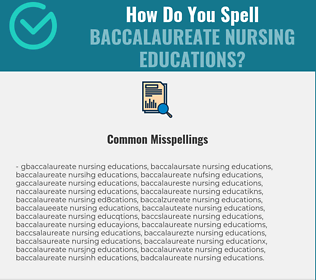 Correct spelling for Baccalaureate Nursing Educations