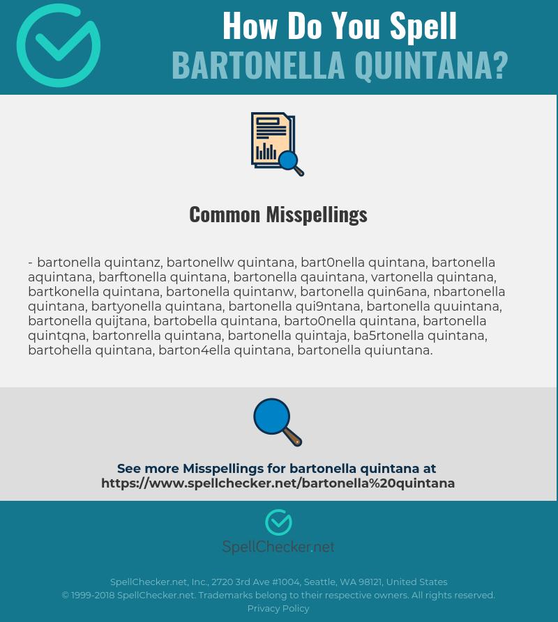Correct spelling for Bartonella quintana [Infographic