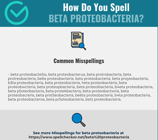 Correct spelling for beta Proteobacteria