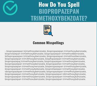 Correct spelling for Biopropazepan Trimethoxybenzoate