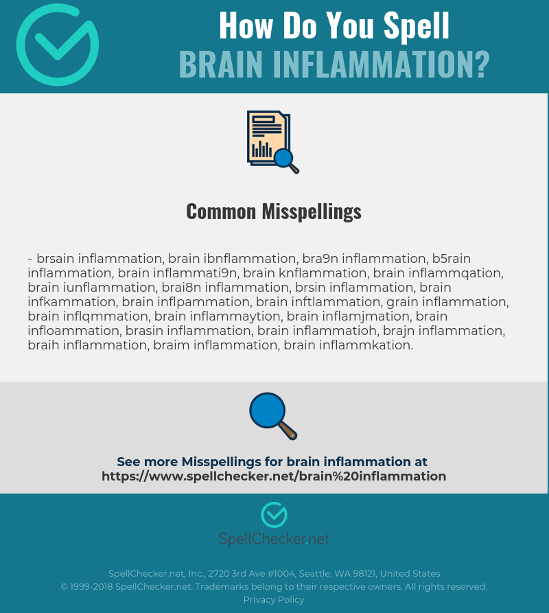 Correct spelling for Brain Inflammation [Infographic