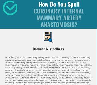 Correct spelling for Coronary Internal Mammary Artery Anastomosis