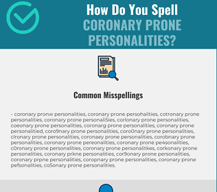 Correct spelling for Coronary Prone Personalities