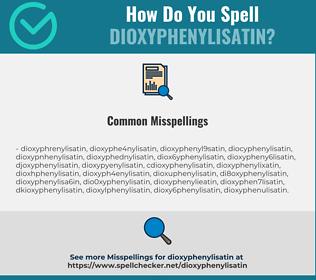 Correct spelling for Dioxyphenylisatin