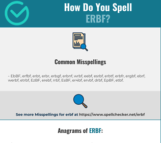 Correct spelling for ERBF