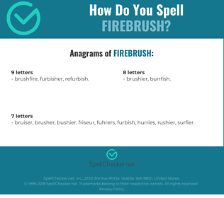 Correct spelling for Firebrush