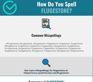 Correct spelling for Flugestone