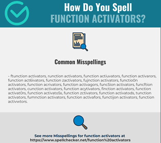 Correct spelling for Function Activators