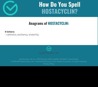 Correct spelling for Hostacyclin