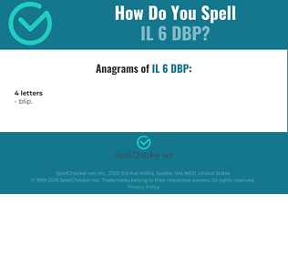 Correct spelling for IL 6 DBP
