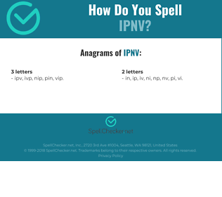 Correct spelling for IPNV