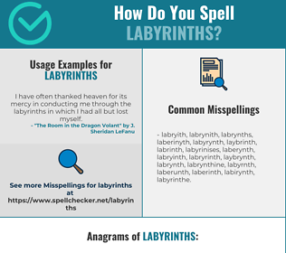 Correct spelling for Labyrinths