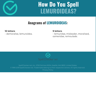 Correct spelling for Lemuroideas