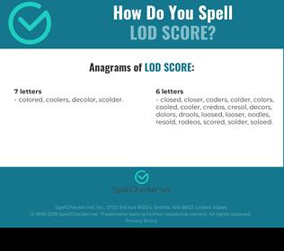 Correct spelling for Lod Score