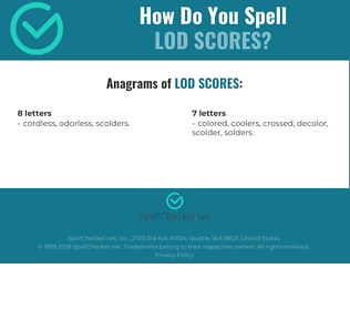 Correct spelling for Lod Scores