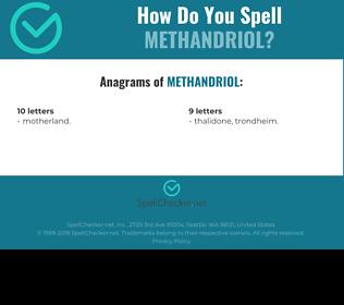 Correct spelling for Methandriol