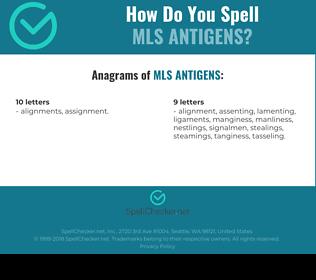 Correct spelling for Mls Antigens