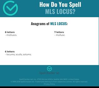 Correct spelling for Mls Locus