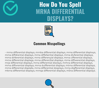 Correct spelling for mRNA Differential Displays