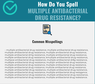 Correct spelling for Multiple Antibacterial Drug Resistance