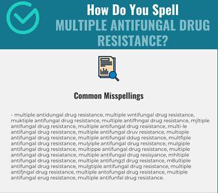 Correct spelling for Multiple Antifungal Drug Resistance