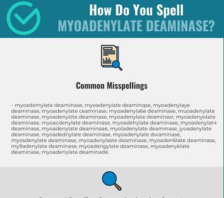 Correct spelling for Myoadenylate Deaminase