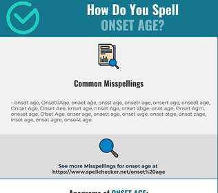 Correct spelling for Onset Age